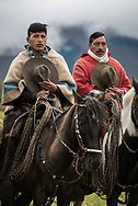 Hacienda El Tambo, Quito, Ecuador, 2020. Once year the Chagras, Andean cowboys, gather for the annual cattle roundup. This year 80 Chagras on horseback rounded up 800 cattle, to count, inoculate, brand and earmark the cows and bulls, before they set the herd free again. Hacienda El Tambo lies at an altitude of 3,600m on the eastern slopes of the Cotopaxi volcano. Built by the Inca's, destroyed by the Spanish and rebuilt as a hacienda, it overlooks the entire property between the 4 volcanoes. Photo by Frits Meyst / MeystPhoto.com
