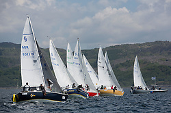 Final days' racing at the Silvers Marine Scottish Series 2016, the largest sailing event in Scotland organised by the  Clyde Cruising Club<br /> <br /> Racing on Loch Fyne from 27th-30th May 2016<br /> <br /> <br /> Sonata Class, Start, SSI, GBR8011N, Old School, MacNish/Galbraith/Chas, RGYC<br /> <br /> Credit : Marc Turner / CCC<br /> For further information contact<br /> Iain Hurrel<br /> Mobile : 07766 116451<br /> Email : info@marine.blast.com<br /> <br /> For a full list of Silvers Marine Scottish Series sponsors visit http://www.clyde.org/scottish-series/sponsors/