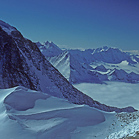 15,919 foot Mount Tyree, the second highest in Antarctica, towers above the Northern Ellsworth Mountains. (This image shot from Mount Shinn, the 3rd highest mountain).