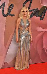 Donatella Versace attending The Fashion Awards 2016 at the Royal Albert Hall, London.
