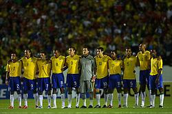 Seleção brasileira em partida contra o Perú válida pelas eliminatórias da Copa do Mundo de 2010, no estádio Beira Rio, em Porto Alegre. FOTO: Jefferson Bernardes / Preview.com