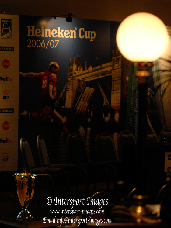 Twickenham Stadium. London, Backdrop in the Invincibles Suite, 2006/07 Heineken Rugby Cup, Launch, 11.10.2006. [Photo, Peter Spurrier/Intersport-images].