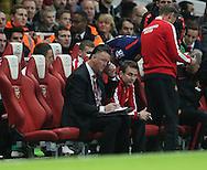 Manchester United's Louis Van Gaal looks on dejected<br /> <br /> Barclays Premier League- Arsenal vs Manchester United - Emirates Stadium - England - 22nd November 2014 - Picture David Klein/Sportimage