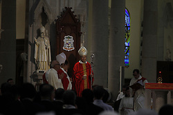 August 5, 2017 - Hong Kong, CHINA - Reverend Michael Yeung, 71 years of age ( Centre ) took the seat of 8th Diocesan Bishop of Hong Kong hosting first Mass at Cathedral of Immaculate Conception. Aug 5, 2017.Hong Kong.ZUMA/Liau Chung Ren (Credit Image: © Liau Chung Ren via ZUMA Wire)