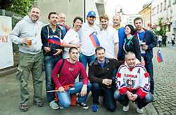 Anze Kopitar of Slovenia and Robert Kristan of Slovenia of Slovenian Ice Hockey National Team at meeting with their supporters at day off during 2015 IIHF World Championship, on May 9, 2015 in Restaurant Zadni Vratka, Stodolni Street, Ostrava, Czech Republic. Photo by Vid Ponikvar / Sportida