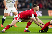Twickenham, England, 7th March 2020, Rhys WEBB, operating at the base of the scrum, during the, Guinness Six Nations, International Rugby, England vs Wales, RFU Stadium, United Kingdom, [Mandatory Credit; Peter SPURRIER/Intersport Images]