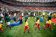 Teams before the 2018 FIFA World Cup Russia, Group F football match between Germany and Mexico on June 17, 2018 at Luzhniki Stadium in Moscow, Russia - Photo Thiago Bernardes / FramePhoto / ProSportsImages / DPPI