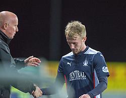 Falkirk's Craig Sibbald subbed.<br /> Falkirk 0 v 0  Livingston, Scottish Championship game played 21/10/2014 at The Falkirk Stadium.