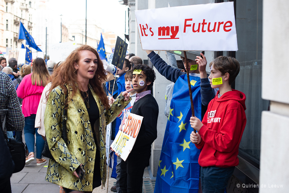 It's my future. We demand a vote. Youth want to be heard during the People's Vote March protest against Brexit