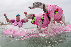 July 29, 2017 - Imperial Beach, CA, US - Surfdog returns to Imperial Beach for the twelfth  year...Beans and Ryder surfing. (Credit Image: © Daren Fentiman via ZUMA Wire)