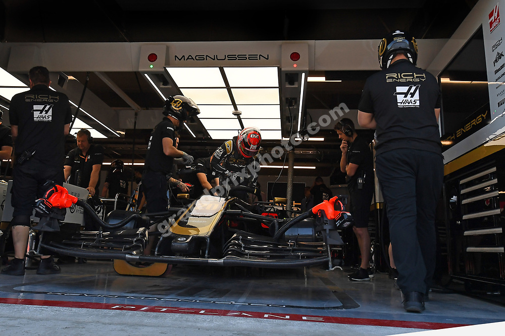 Kevin Magnussen gets out of his Haas-Ferrari after qualifying for the 2019 Canadian Grand Prix in Montreal. Photo: Grand Prix Photo
