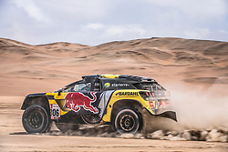 Sebastien Loeb (FRA) of PH Sport races during stage 4 of Rally Dakar 2019 from Arequipa to Tacna, Peru on January 10, 2019. // Flavien Duhamel/Red Bull Content Pool // AP-1Y3A5TQ492111 // Usage for editorial use only // Please go to www.redbullcontentpool.com for further information. //