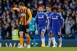 Eden Hazard of Chelsea walks back after he scores a goal to make it 1-0 - Photo mandatory by-line: Rogan Thomson/JMP - 07966 386802 - 13/12/2014 - SPORT - FOOTBALL - London, England - Stamford Bridge - Chelsea v Hull City - Barclays Premier League.