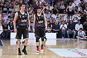 Rosselli, Spizzichini<br /> Kontatto Fortitudo Bologna vs Segafredo Virtus Bologna<br /> Campionato Basket LNP 2016/2017<br /> Bologna 14/04/2017<br /> Foto Ciamillo-Castoria/A. Gilardi