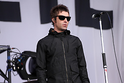 © Licensed to London News Pictures. 28/06/2013 UK Liam Gallagher's band, Beady Eye, have announced they are to split . FILE PICTURE - Liam Gallagher - Pictured at Glastonbury in 2013 with the band -. Photo credit : Jason Bryant/LNP