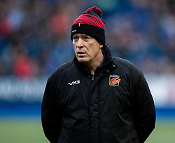 Head Coach Dean Ryan of Dragons during the pre match warm up<br /> <br /> Photographer Simon King/Replay Images<br /> <br /> Guinness PRO14 Round 9 - Cardiff Blues v Dragons - Thursday 26th December 2019 - Cardiff Arms Park - Cardiff<br /> <br /> World Copyright © Replay Images . All rights reserved. info@replayimages.co.uk - http://replayimages.co.uk