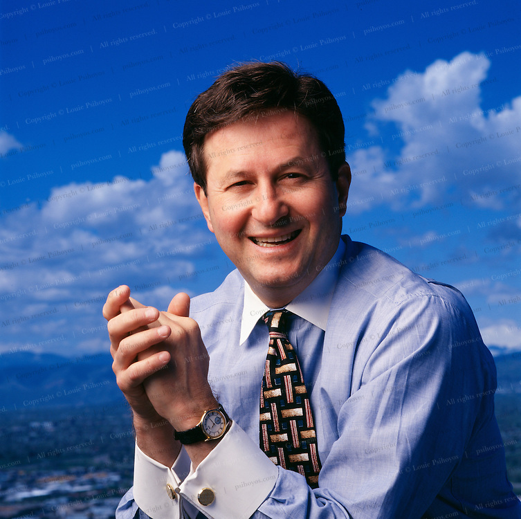Joe Nacchio atop the Qwest building in downtown Denver.