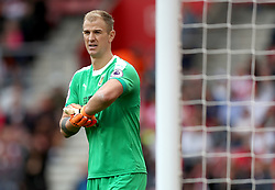"""Burnley goalkeeper Joe Hart during the Premier League match at St Mary's, Southampton. PRESS ASSOCIATION Photo. Picture date: Sunday August 12, 2018. See PA story SOCCER Southampton. Photo credit should read: Andrew Matthews/PA Wire. RESTRICTIONS: EDITORIAL USE ONLY No use with unauthorised audio, video, data, fixture lists, club/league logos or """"live"""" services. Online in-match use limited to 120 images, no video emulation. No use in betting, games or single club/league/player publications."""