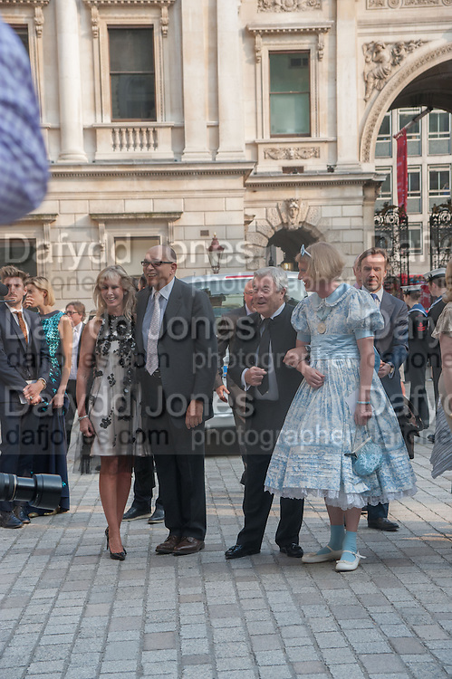 SUSAN SANGSTER; BRUCE OLDFIELD; TERRY O'NEILL; GRAYSON PERRY, Celebration of the Arts. Royal Academy. Piccadilly. London. 23 May 2012.