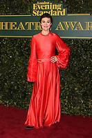 Helen McCrory, London Evening Standard Theatre Awards, Theatre Royal Drury Lane, London UK, 03 December 2017, Photo by Richard Goldschmidt