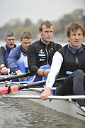 London, Great Britain, TSS. Men's H/W Quad,  3. Mahe DRYSDALE and stroke, training on the River Thames Chiswick to Putney.  [Mandatory Credit. Peter Spurrier/Intersport Images]