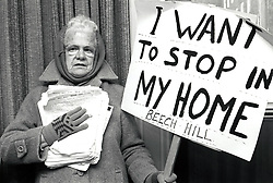Save Braddock House protest, County Hall, Nottingham UK November 1990