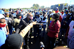 South Africa - Johannesburg - 07 July 2020 - Truck drivers gathered in City Deep as part of a nationwide strike. They are protestingagainst the employment of foreigners in the trucking industry. Picture: Nokuthula Mbatha/ African News Agency(ANA)