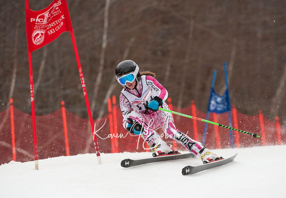 Francis Piche Invitational giant slalom 2nd run J4 at Gunstock March 17, 2012.