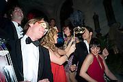Francesca Bortolotto Possati, Alessandro and Olimpia host Carnevale 2009. Venetian Red Passion. Palazzo Mocenigo. Venice. February 14 2009.  *** Local Caption *** -DO NOT ARCHIVE -Copyright Photograph by Dafydd Jones. 248 Clapham Rd. London SW9 0PZ. Tel 0207 820 0771. www.dafjones.com<br /> Francesca Bortolotto Possati, Alessandro and Olimpia host Carnevale 2009. Venetian Red Passion. Palazzo Mocenigo. Venice. February 14 2009.