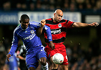 Photo: Tom Dulat.<br /> <br /> Chelsea v Queens Park Rangers. FA Cup Third Round. 05/01/2008. <br /> <br /> Gavin Mahon of Queens Park Rangers and Salomon Kalou of Chelsea with the ball.