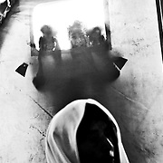 Children at Khazir Camp peek inside of a tent as they join 70,000 + internally displaced people fleeing violence in Mosul as Iraqi Security Forces move to clear the city of the terror network.