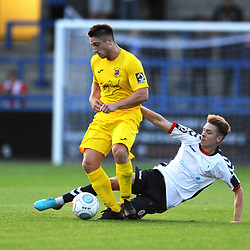 TELFORD COPYRIGHT MIKE SHERIDAN 14/8/2018 - Henry Cowans of AFC Telford during the Vanarama Conference North fixture between AFC Telford United and Brackley Town.