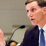 """John Pistole, Deputy Director of the FBI. Panel: """"Outline of the 9/11 Plot."""" The 9/11 Commission's 12th public hearing on """"The 9/11 Plot"""" and """"National Crisis Management"""" was held June 16-17, 2004, in Washington, DC."""