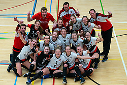 Team Apollo 8 after the first league match between Laudame Financials VCN vs. Apollo 8 on February 06, 2021 in Capelle aan de IJssel.
