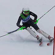 Winter Olympics, Vancouver, 2010.Jacky Chamoun, Lebanon, in action in the Alpine Skiing Ladies Slalom at Whistler Creekside, Whistler, during the Vancouver Winter Olympics. 24th February 2010. Photo Tim Clayton