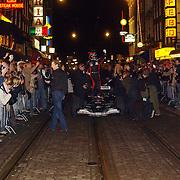 Presentatie Christian Albers wagen sponsor, F1 bolide in Amsterdam