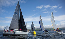 Largs Regatta Week 2017 <br /> <br /> Day 2, RC35 Class with FRA37296, Triple Elf, Christine Murray, CCC/Fairlie YC, Beneteau First 35<br /> <br /> Picture Marc Turner