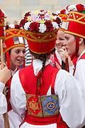 Dancers during San Fermin Fiesta at Pamplona, Navarre, Northern Spain