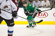 DALLAS, TX - SEPTEMBER 26:  Shawn Horcoff #10 of the Dallas Stars looks on against the Colorado Avalanche in an NHL preseason game on September 26, 2013 at the American Airlines Center in Dallas, Texas.  (Photo by Cooper Neill/Getty Images) *** Local Caption *** Shawn Horcoff