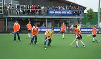 ABCOUDE - VOLVO JUNIOR CUP hockey . Abcoude C1 en Heerhugowaard  strijden in Abcoude om de cup. Heerhugowaard wint met 3-1. De teams werden gesteund door spelers van Jong Oranje. COPYRIGHT KOEN SUYK