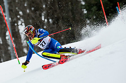 """Patrick Thaler (ITA) competes during 1st Run of FIS Alpine Ski World Cup 2017/18 Men's Slalom race named """"Snow Queen Trophy 2018"""", on January 4, 2018 in Course Crveni Spust at Sljeme hill, Zagreb, Croatia. Photo by Vid Ponikvar / Sportida"""
