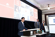 Greentree Hospitality Group IPO at the New York Stock Exchange on March 27, 2018 on Wall Street in New York City