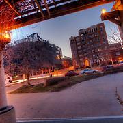 West Edge Demolition on January 26, 2011 from the Cancer Survivors Park across the street, Kansas City, Missouri.