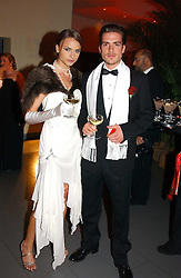 PATRICK MEHAN and NATHALIE BOMGREN at Andy & Patti Wong's Chinese New Year party to celebrate the year of the Rooster held at the Great Eastern Hotel, Liverpool Street, London on 29th January 2005.  Guests were invited to dress in 1920's Shanghai fashion.<br /><br />NON EXCLUSIVE - WORLD RIGHTS