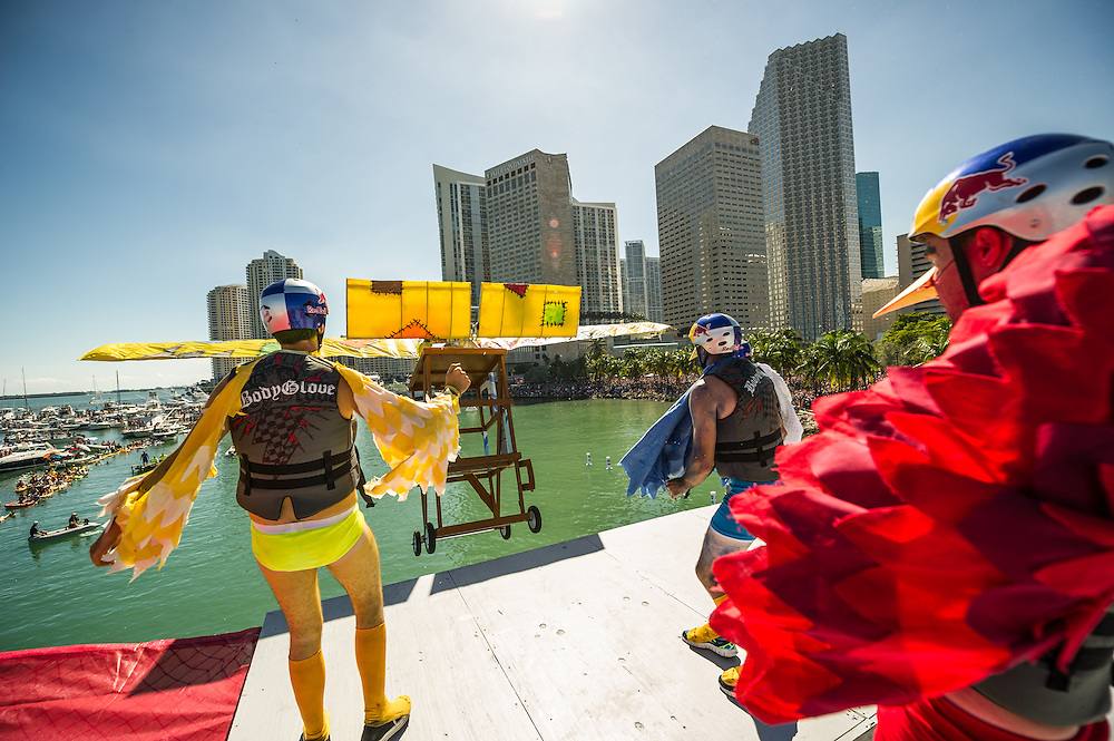 Hurricane Engineers Angry Birds  -  Performs at RedBull Flugtag in Miami, Florida on 11/03/2012