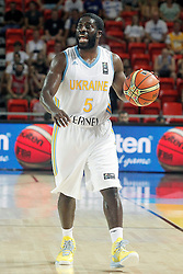 02.09.2014, City Arena, Bilbao, ESP, FIBA WM, Ukraine vs Türkei, im Bild Ukraine's Eugene Pooh Jeter // during FIBA Basketball World Cup Spain 2014 match between Ukraine and Turkey at the City Arena in Bilbao, Spain on 2014/09/02. EXPA Pictures © 2014, PhotoCredit: EXPA/ Alterphotos/ Acero<br /> <br /> *****ATTENTION - OUT of ESP, SUI*****