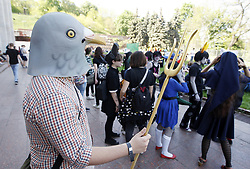 May 6, 2017 - Kiev, Ukraine - Participants take part at the festival ''Kyiv Comic Con'' in Kiev, Ukraine, 6 May, 2017. The festival of fans movies,comics, cosplay, films and TV series runs from 6 to 7 May in Kiev. (Credit Image: © Str/NurPhoto via ZUMA Press)