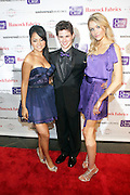 """l to r: Kat De Luna, Connor Paolo and Katrina Bowden at """" The Ultimate Prom"""" presented by Universal Motown and Mypromstyle.com held at Pier 60 at Chelsea Piers in New York City."""
