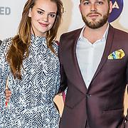 NLD/Amsterdam/20170328 - Uitreiking Tv Beelden 2017, Eva Laurenssen en partner Teun Luijkx