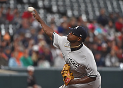 May 30, 2017 - Baltimore, MD, USA - New York Yankees starter Luis Severino pitches against the Baltimore Orioles in the second inning at Oriole Park at Camden Yards in Baltimore on Tuesday, May 20, 2017. The Yankees won, 8-3. (Credit Image: © Kenneth K. Lam/TNS via ZUMA Wire)